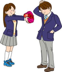バレンタイン高校生告白